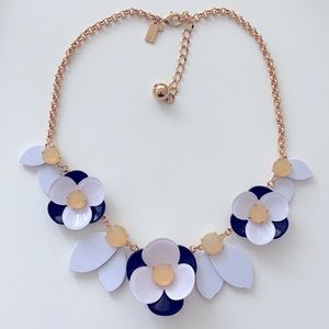 Kate Spade black and white flower necklace